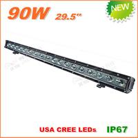 Free Shipping New 90W CREE LED Work Light  Bar 12V 24V IP67 Flood Spot beam For 4WD 4x4 Off road Light Bars TRUCK BOAT TRAIN