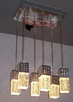 Medium-large brief modern lighting bubble crystal restaurant pendant light bar lamps 146
