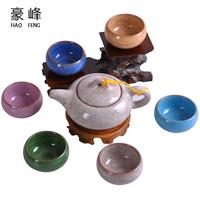 Tea set ceramic tea set purple binglie glaze tea set