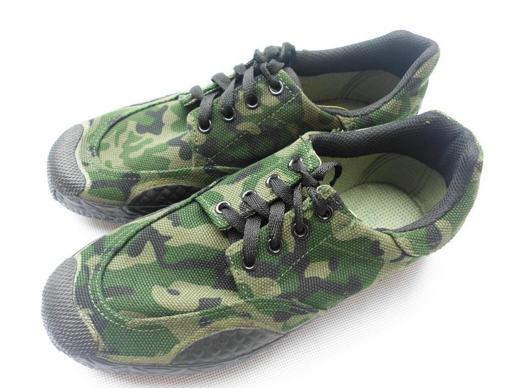 Низкая малоэтажных камуфляж Jiefang се рабочий обувь скольжение обувь