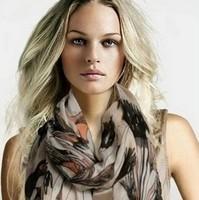 2014 Fashion style begonia flower trendy women scarf autumn and beach scarves summer exquisite designs shawl