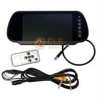 7 inch TFT Color Mirror LCD Car Rearview Screen Monitor Backup Camera