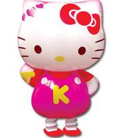 Free Shipping 50pcs/bags wholesales Hello kitty walking pet balloons , Helium balloons , Promotional toys ,Children toys