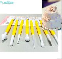 8PCS/SET  20SET FONDANT CKE DECORATING FLOWER MODELING CRAFT CLAYS SUGARCRAF TOOL CUTTER