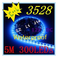 Free shipping ! 5M Warm White SMD 3528 Waterproof 300leds LED Strip Light