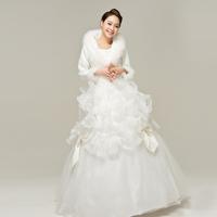 Gorgeous women's 2013 bride wedding formal dress long design long-sleeve thermal cheongsam wedding dress