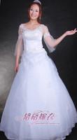 2013 long-sleeve racerback wedding mommas bride maternity plus size wedding qi 2013-xhs003