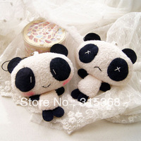 Wholesale Plush Toy Kawaii Panda Doll Mobile Phone Charm Strap Lanyard Bag pendant keychain toys 40pcs/lot