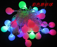 Free Shipping Led lighting flasher multicolour scrub ball decoration colorful lights christmas lantern led ball lamp
