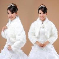 Bride cape 2012 formal dress wedding dress fur shawl cheongsam autumn and winter white long-sleeve fur shawl