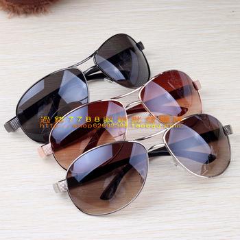 Large metal sunglasses mirror anti-uv sunglasses sun glasses