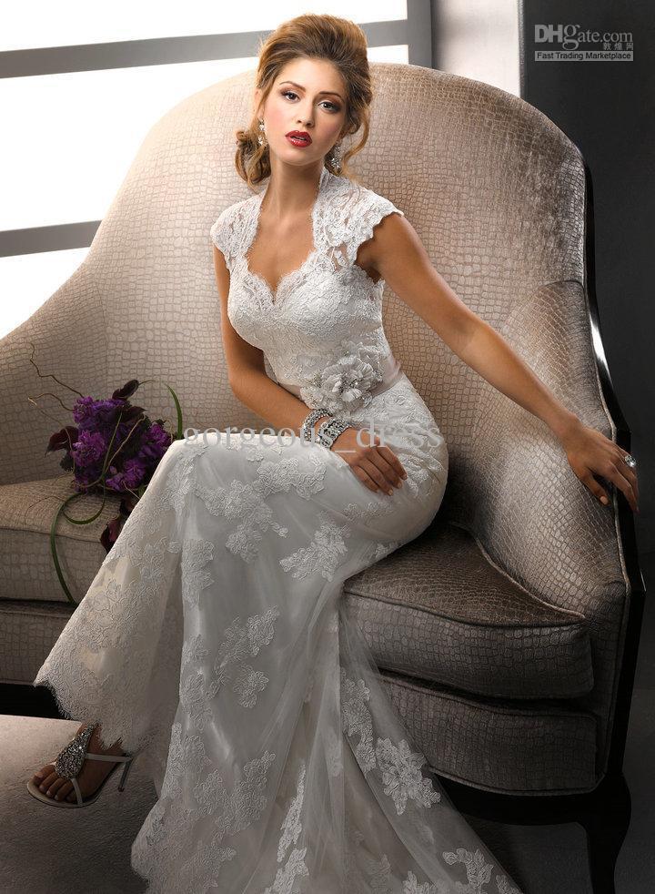*Memories* ~Joe y Tu~ - Página 22 Wholesale-Glamorous-modern-graceful-white-lace-bride-dress-wedding-dress-short-sleeves-lady-girl-floor-length