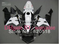Injection mold gloss black white for HONDA CBR600RR F5 2005 2006 CBR 600 RR 05 06 CBR600 600RR 05-06 2005-2006 fairing kit Y032