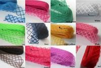 17 colors for choose - 4.5cm Wide Big Diamond Pattern Millinery Hat Trim 100 yards