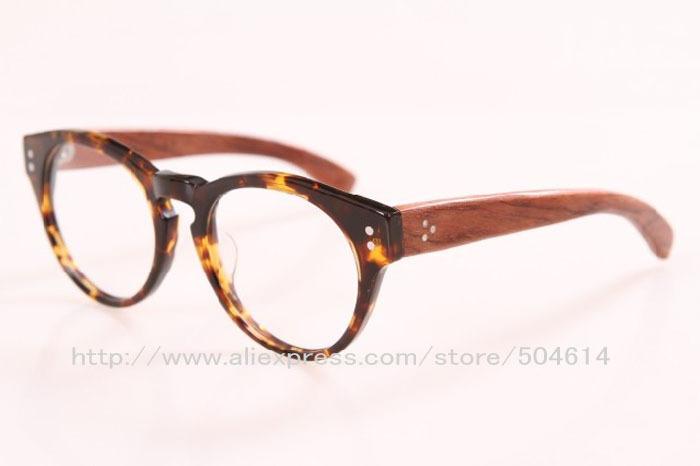 Eyeglass Frames High Prescription : Wood Temple!!Handmade Acetate Mens Fashion High Quality ...