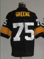 Free shipping Joe Greene #75 throwback american football jersey Mitchell & Ness Stitched jerseys retail good quality