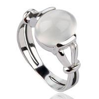Twilight New Moon BELLA Natural Moonstone 925 Silver Ring Isabella Swan Cullen Vampire Girl Ring - S925