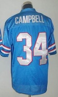 Free shipping earl campbell #34 throwback american football jersey Mitchell & Ness Stitched jerseys retail good quality