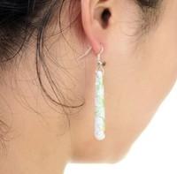 Jingdezhen ceramic jewelry ethnic wind handmade applique earrings earrings