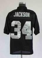 Free shipping Bo Jackson #34 throwback american football jersey Mitchell & Ness Stitched jerseys retail good quality
