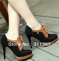 Free shipping 2013 fashion martin ankle boots women shoes woman high heels platform pumps ladies big size eur 34-42 CSXX34383
