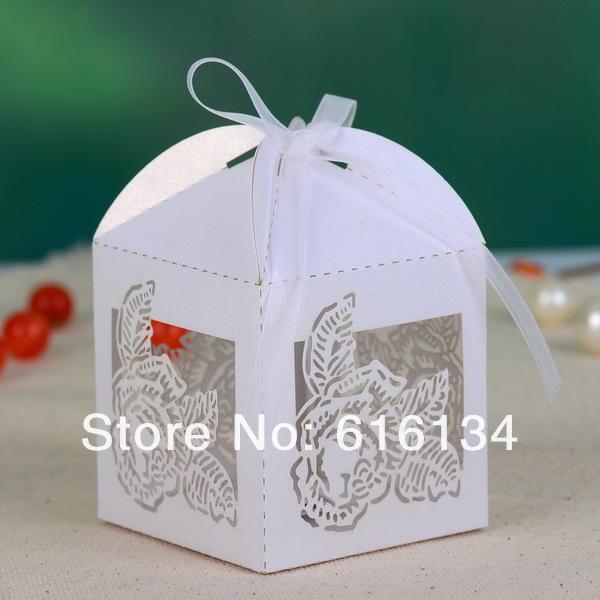 ... WholesaleRose Hollow-out Wedding Favor Box wedding gift box 100pcs