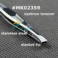 Wholesale 360pcs Stainless Steel Slanted Eyebrow Plucking Tweezer Hair Removal Slant Tip SKU:M0216XX