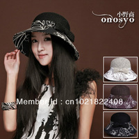 Hat female summer sunbonnet sun hat embroidery strawhat summer hat beach bucket hats