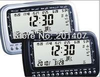 10pcs /lots Brand  New arrived  Full Azans 1500 cities  Al fajir azan table clock