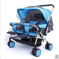 Hot-selling twins stroller,double stroller,super suspension twins strollers /carrier/ pram/ buggy/ jogger handcart