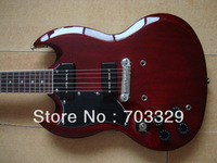 drak red electric guitar rosewood fretboard dot lnlay special bridge stop tail piece