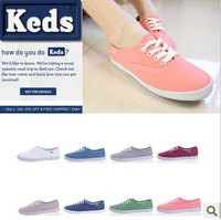 2013 fashion spring Summer keds spherule shoe canvas shoes keds low women's shoes Sneakers free shipping