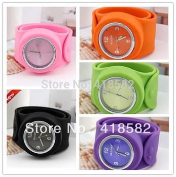 New Colorful Fashion Sunstreaker 3-6-9-12 dial  Jelly Wristwatch Children slap watch  free shipping 10 pcs/lot  free shipping