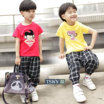 Children's clothing monkey o-neck short-sleeve cartoon T-shirt mdash . baby