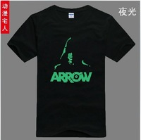 Green Arrow Man Oliver Queen Arrow Cosplay Costume Tee T Shirts 2 items Luminous shirt cool dress XXXL free shipping
