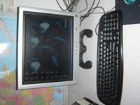 One piece machine computer lcd computer terminal machine