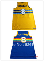 Free shipping Denver #8 Danilo Gallinari jersey, Embroidery logos men's basketball jerseys,Size44-56.