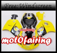 motofairing -1996 1997 2000 GSXR600 GSXR750 GSXR 600 750 GSX-R600 R750 96 97 98 99 Yellow black Fair