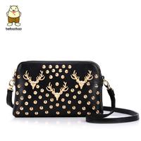 2013 new arrival fashion female envelope rivet deer small shoulder bag versatile cross-body messenger bag superior quality bag
