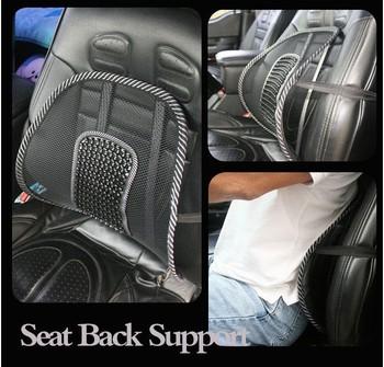 Free shipping New Car Seat Chair Massage Back Lumbar Support Mesh Ventilate Cushion Pad Black