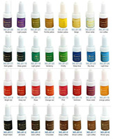 Quality 32 Colors (10 ML/Bottle) Golden Rose Permanent Makeup Ink - Free shipping