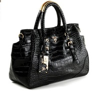 Wholesale Brand Free shipping*discount *Genuine leather+Fashion+multifunctional+Crocodile  leather lady handbag,bag,lady bag