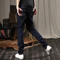 Men's clothing trousers tidal current male denim trousers slim denim blue skinny pants male trousers