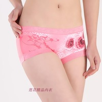 Women's panties modal  rose beauty care body shaping butt-lifting panty shorts free shipping