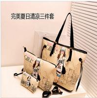 2013 fashion  women handbag mother bag small piece set shoulder bag handbag
