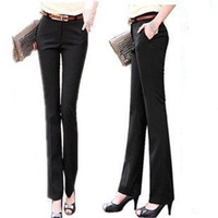 2014 summer OL Straight formal pants, women's suit,Office Ladies ' Work Solid Trendy Trousers plus size