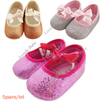 Drop shipping 5pairs/lot Cute Toddler Shoes Girls and Boys First Walker Shoes Baby Blink Shoes Slipper New 3 Colors 16347