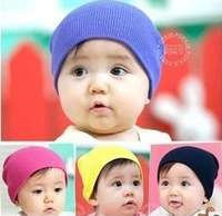 1pcs Retail Pure Color Baby Infant Cap Warm Winter Knitting Wool Children Crochet Beanie Toddler Boys & Girls Hats