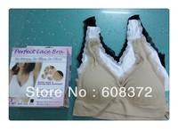 ahh bra genie bra no pads with lace size s m l xl xxl 3 pieces/lot