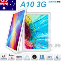 10.1 inch Ampe A10 Qualcomm Quad Core 3G Tabelt PC 1GB RAM Bluetooth GPS Phone Call 4GB ROM